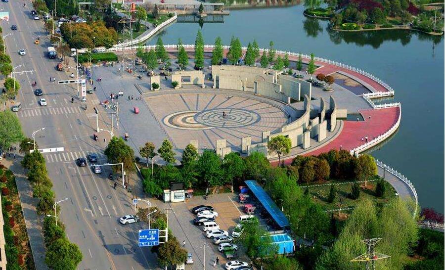 河南音乐喷泉-永城市休闲广场大型音乐喷泉项目
