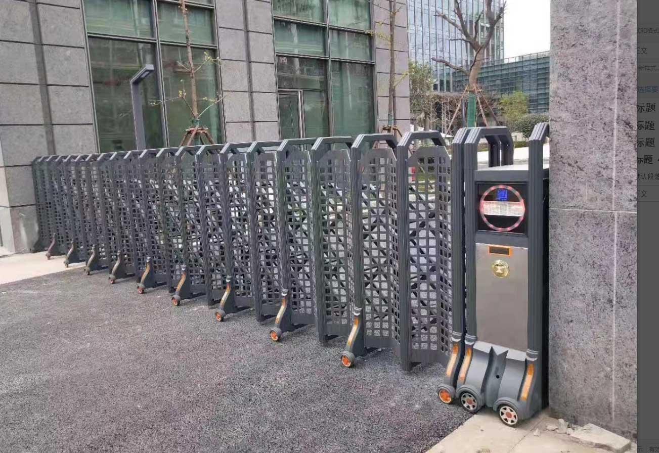 渭南市大荔县幼儿园电动伸缩门安装完毕
