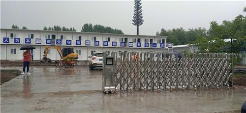 中国建筑工地电动伸缩门
