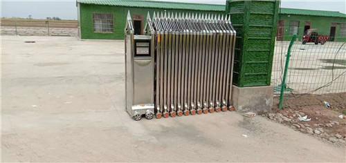 渭南市大荔县厂区不锈钢电动伸缩门