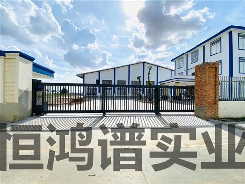 西安某厂区电动平移门安装完成