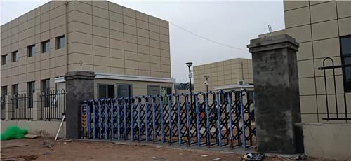 沣西大王污水处理厂电动伸缩门安装完成