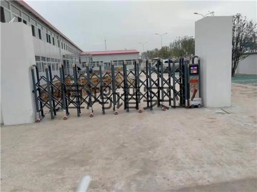 西安市高陵区铝合金电动伸缩门安装完成
