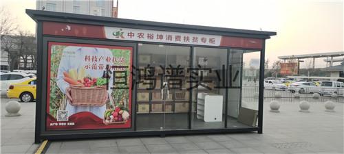 渭南市大荔高铁站扶贫专柜岗亭安装完成