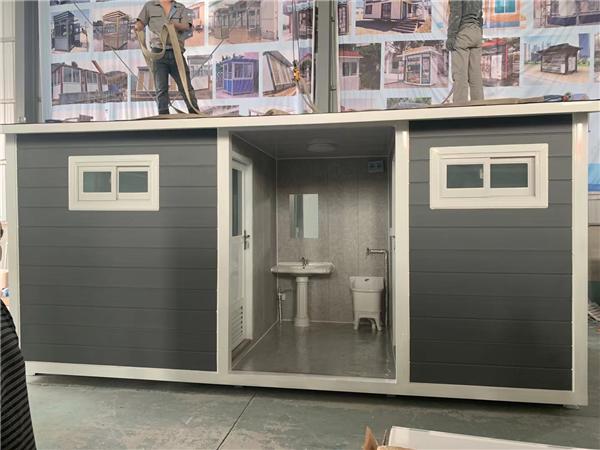 公园移动环保厕所制作完成