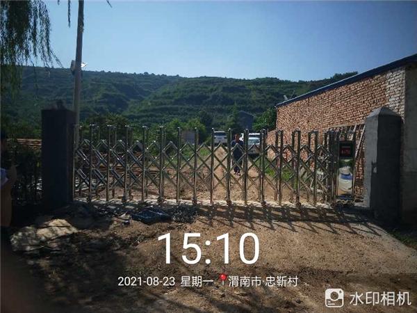 渭南某厂区电动伸缩门完工
