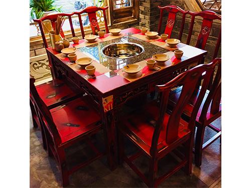 成都中式仿古火鍋桌