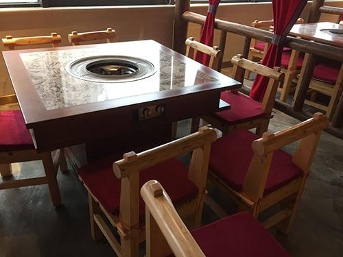 成都現代中式火鍋桌