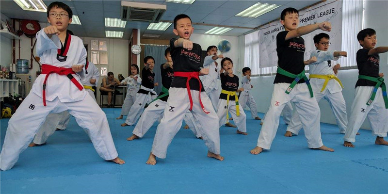 儿童跆拳道学习