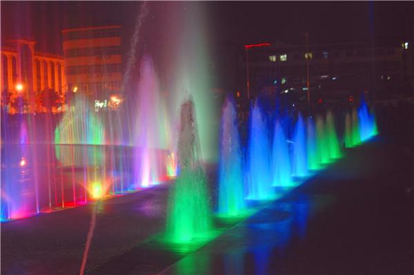 金源广场音乐喷泉