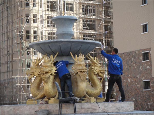 唐都广场喷泉工程