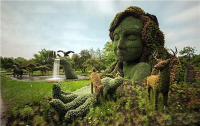 万博手机客户端登陆城市绿雕施工