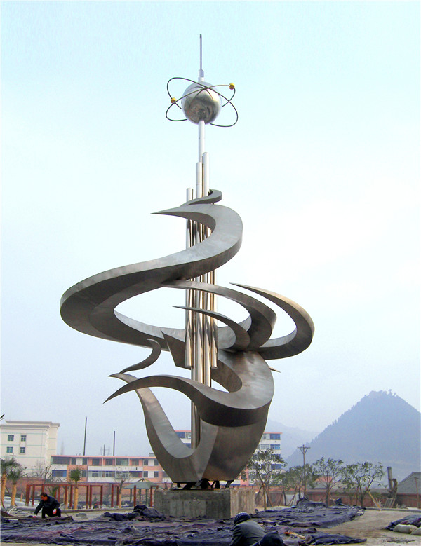 陕西不锈钢雕塑-大型雕塑定制厂家