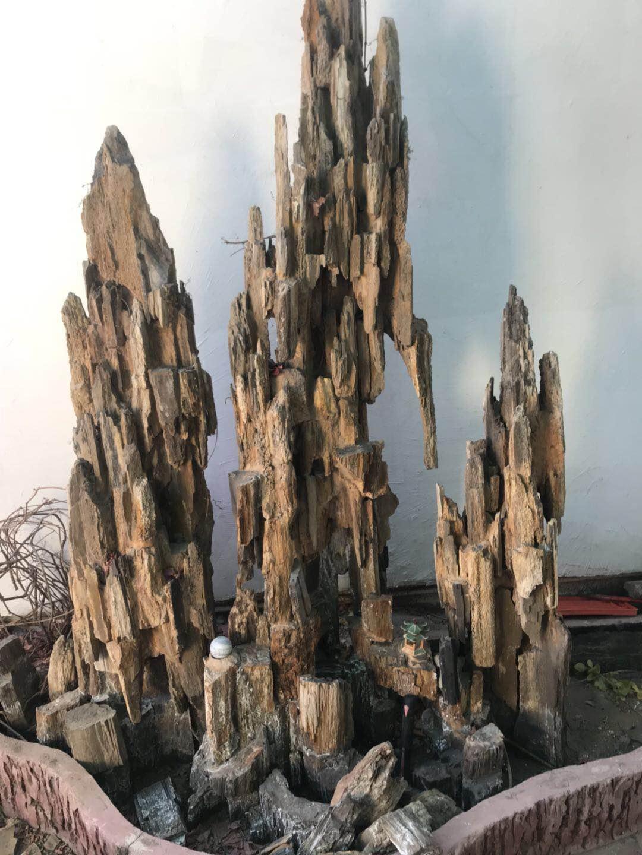 内蒙古假山盆景-吸水石假山