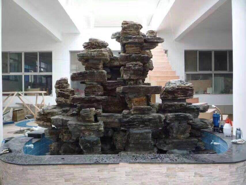 石缘景观与区政府一楼大厅合作案例