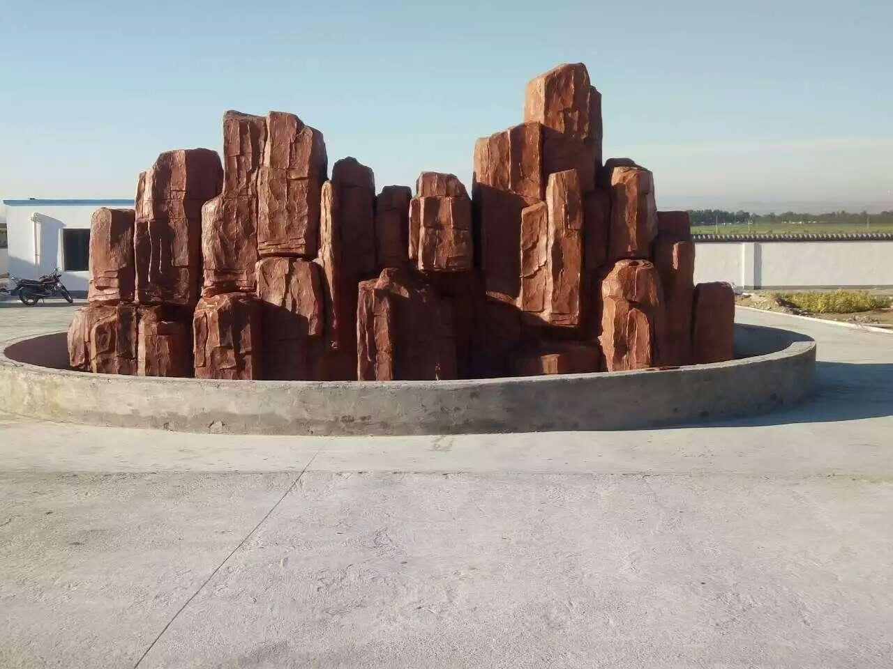 石缘景观与锡林浩特合作雕塑艺术假山案例