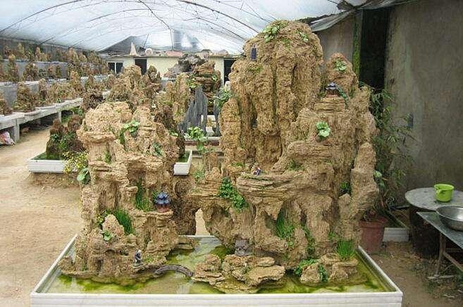 假山盆景造型