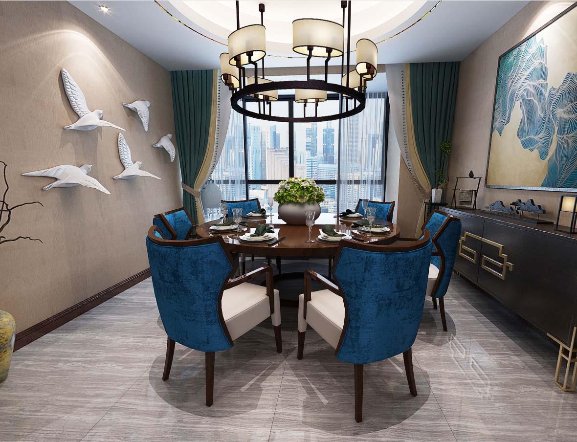 轻奢港式风3D效果图展示 充分展示港式风格 大气轻奢