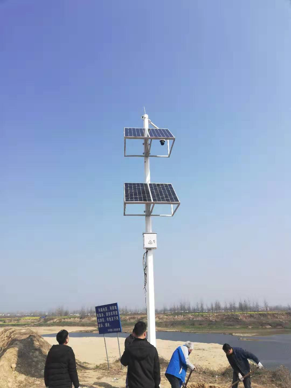 信阳罗山淮河挖沙治理太阳能监控项目