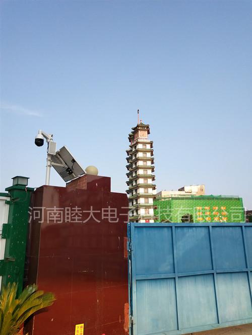 郑州5号线二七广场站施工地太阳能监控