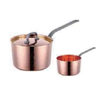 铜三层锤印钢柄斜身汁锅