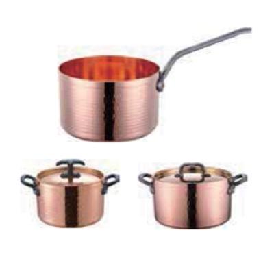 铜三层锤印高身汁锅