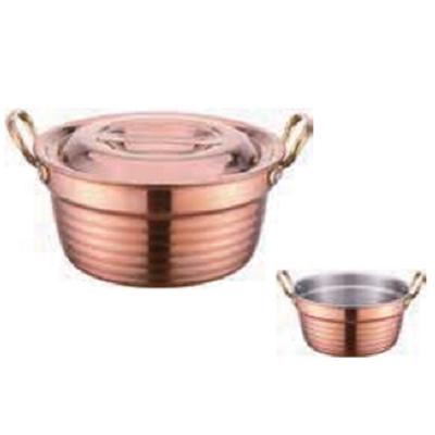 三层铜精钻调理锅