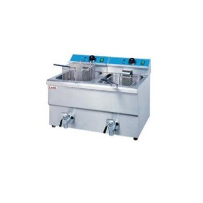 重庆厨具-台式双缸双筛电炸炉设备