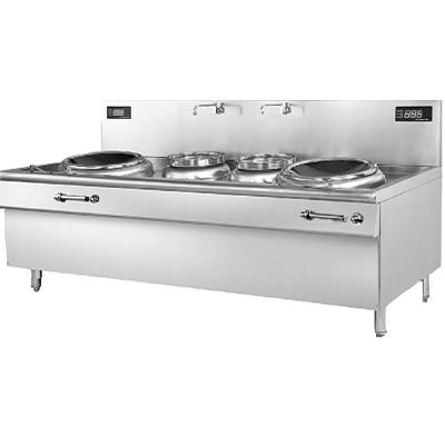 不锈钢商用燃气双头大炒锅  重庆宜大厨房设备