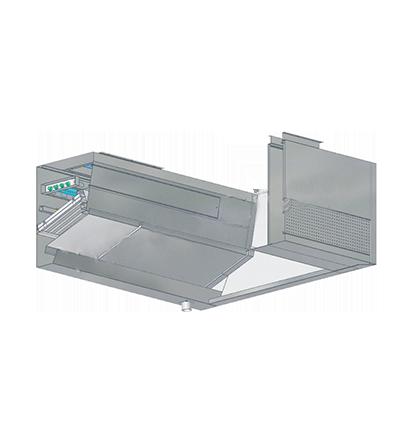 紫外线UV-C自动水洗式烟罩带鲜风槽带风帘 (方型)