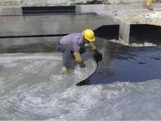 屋顶裂缝修复防水补漏材料楼顶sbs液体卷材施工