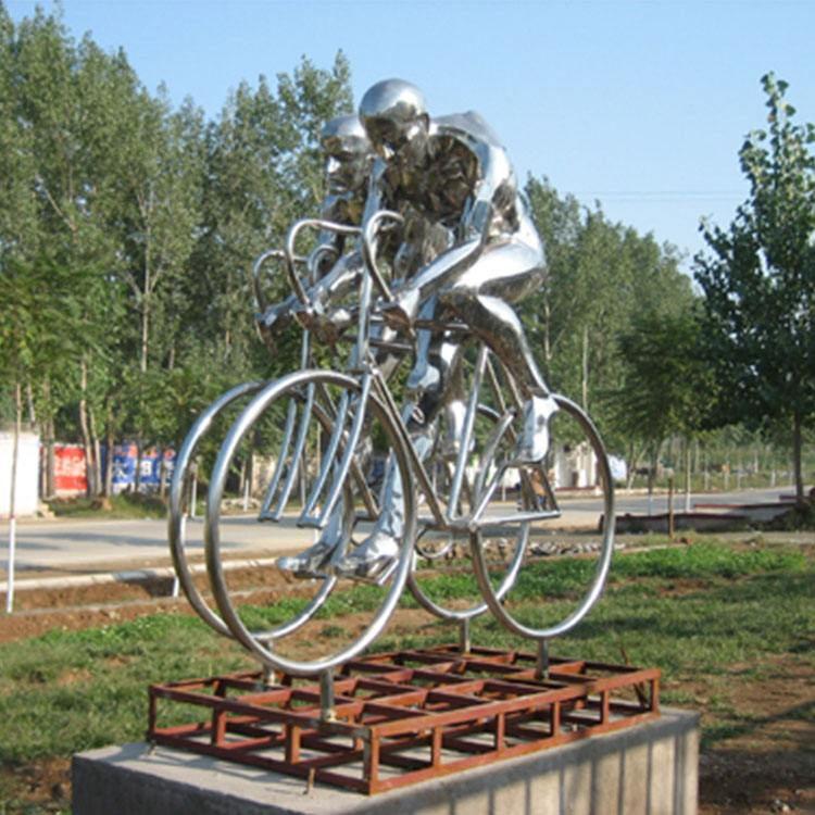 自行车景观雕塑
