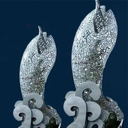 成都奎源异型雕塑之海纳百川鲸鱼