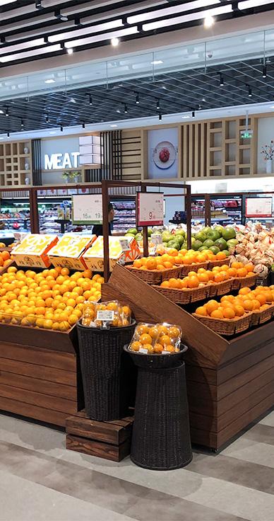 四川水果货架-ABS单层水果端架