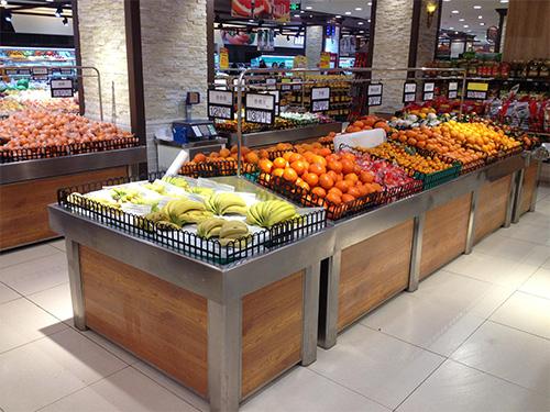 四川水果货架厂家-不锈钢单层水果架