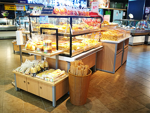 四川钢木中岛蛋糕柜