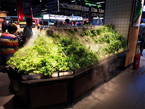 四川蔬菜货架-喷雾蔬菜架