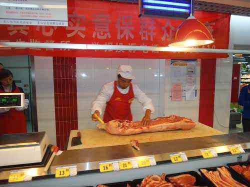 四川鲜肉宰割台