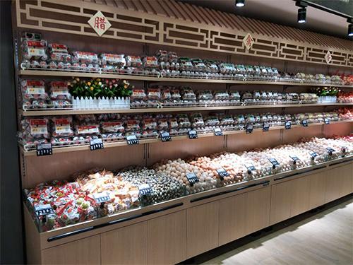 四川超市散称货架-型材靠墙禽蛋柜
