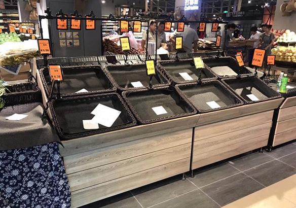 四川超市货架-免漆板单层蔬菜架