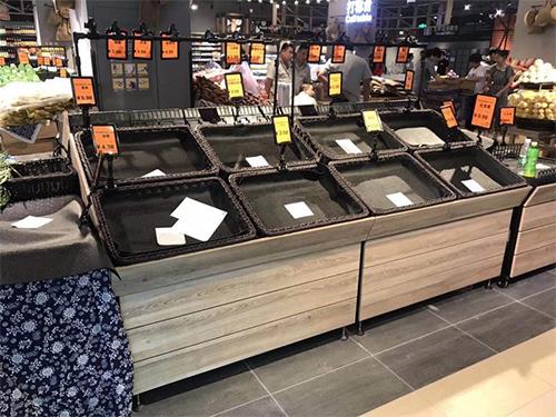 四川超市货架-免漆板单层水果架