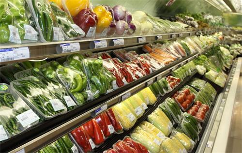四川蔬菜货架展现现场