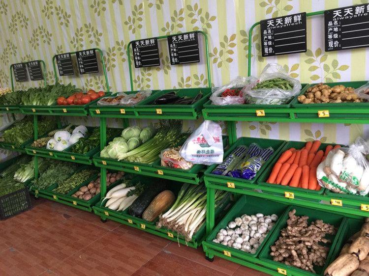 四川蔬菜货架合作图片