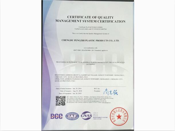 一肖免费中特王中王_塑料袋质量管理体系认证证书