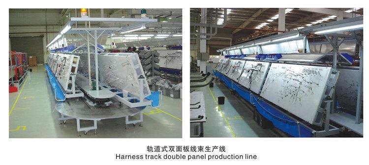 成都軌道式雙麵板線束生產線
