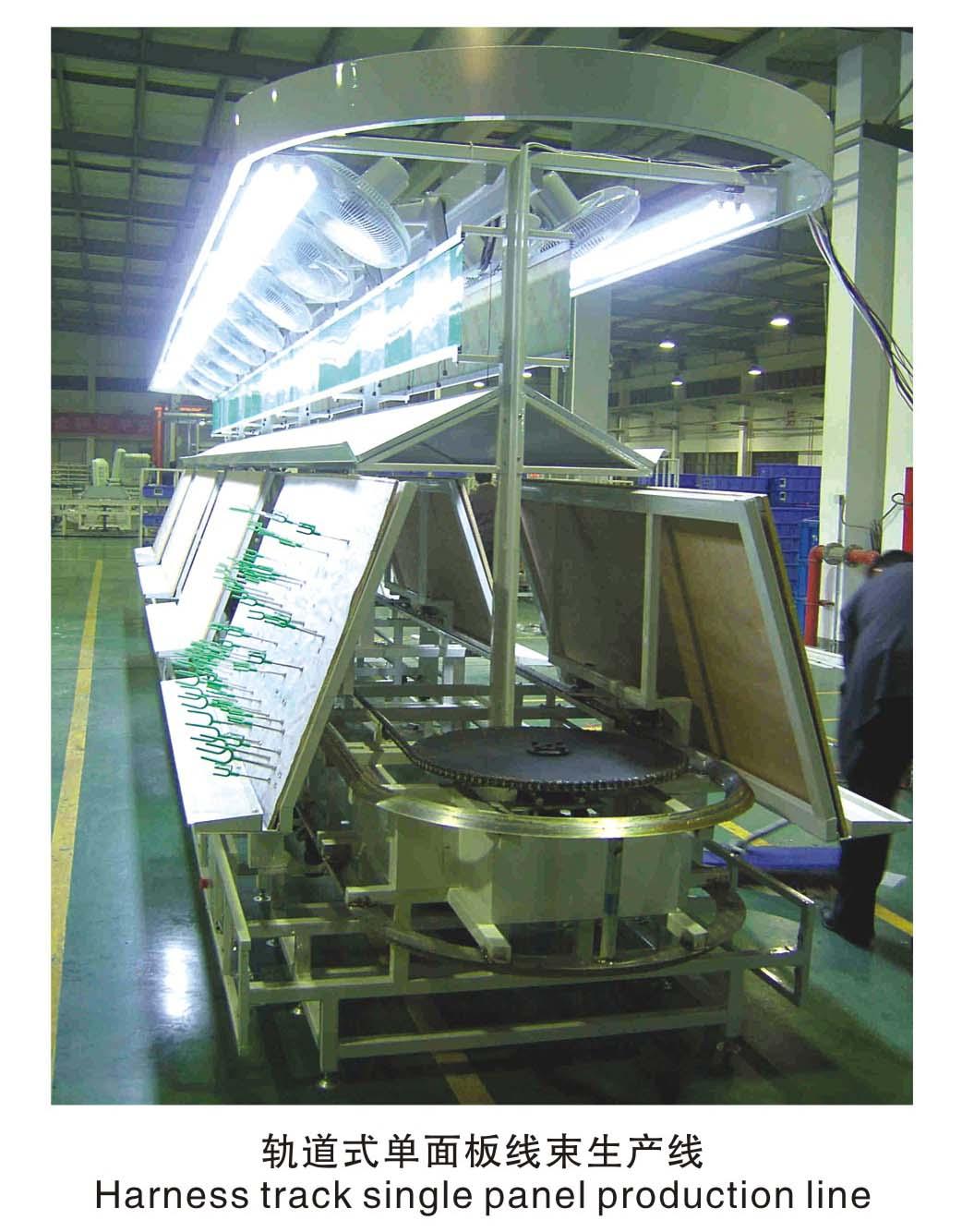成都軌道式單麵板線束生產線