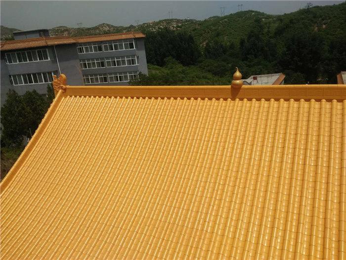 法华寺黄金屋顶俯视图