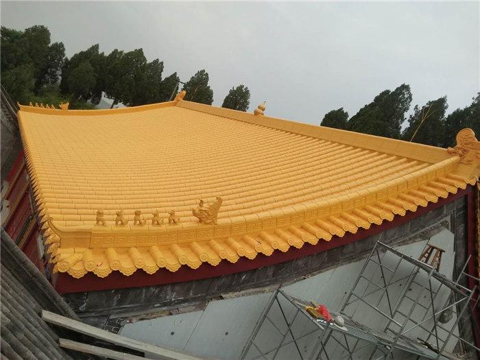 法华寺黄金屋顶正在施工图