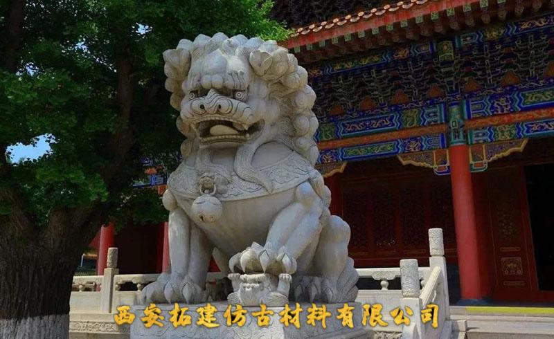 故宫角落的石狮子
