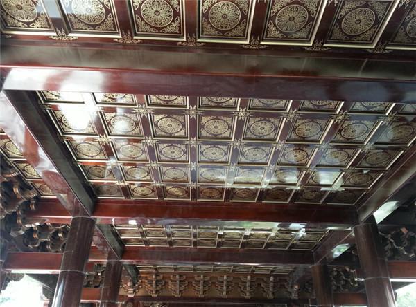 寺庙铜装饰-铜吊顶